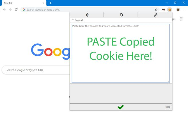 Copy & paste Netflix cookie
