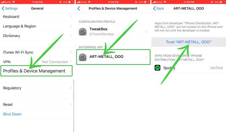Trust Enterprise app iPhone