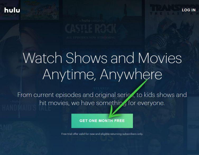 Hulu GET ONE MONTH FREE