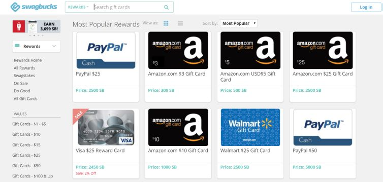 SwagBucks Free Amazon Gift Cards
