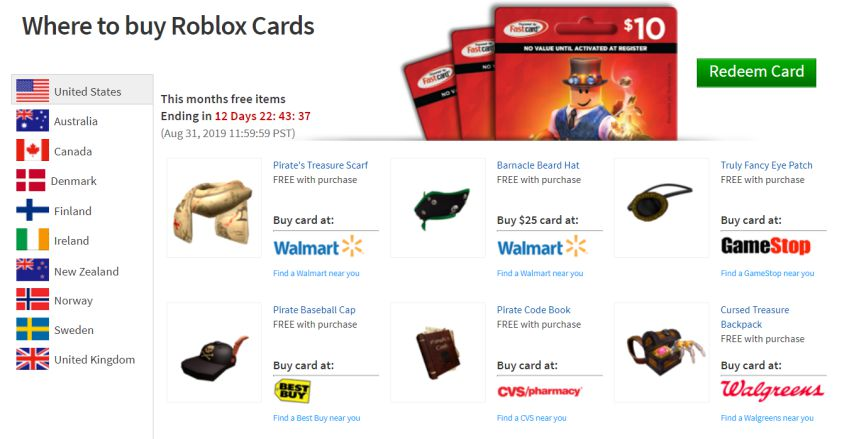 Roblox Gift Card Online Game Code Roblox Promo Codes List October 2020 Not Expired New Code