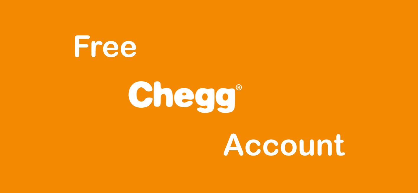 free chegg account username and password 2019