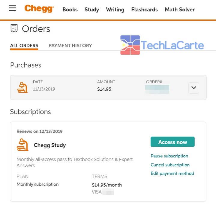 Chegg Subscription